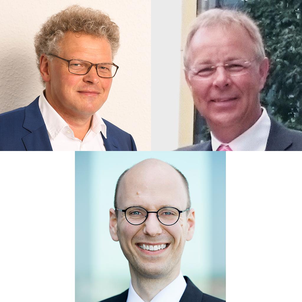Jens Guse (Paul Guse), Ralf Kaiser (Jacobs Douwe Egberts), Moderator: Dr. Johannes Hielscher (Deutscher Kaffeeverband)